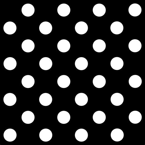 Black And White Polka Dot Background Black Polka Dot Clipart
