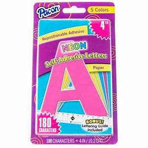 neon 4quot pacon self adhesive paper letters hobby lobby With adhesive letters hobby lobby