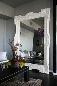 Miroir Mural Grande Taille : 76 id es avec un miroir grand format miroir pinterest tables noires miroir mural et ~ Teatrodelosmanantiales.com Idées de Décoration