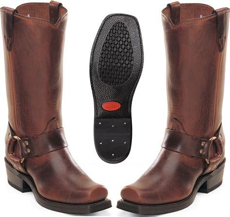 mens brown biker boots durango boots mens 11 quot leather biker harness boots