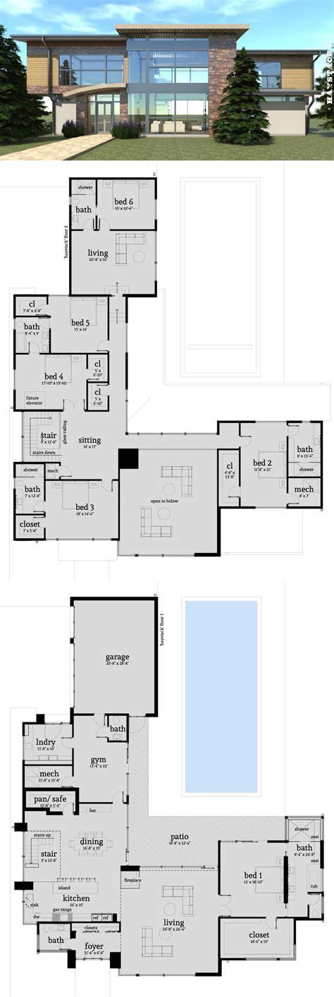 bedroom modern home  safe room luxury house plans