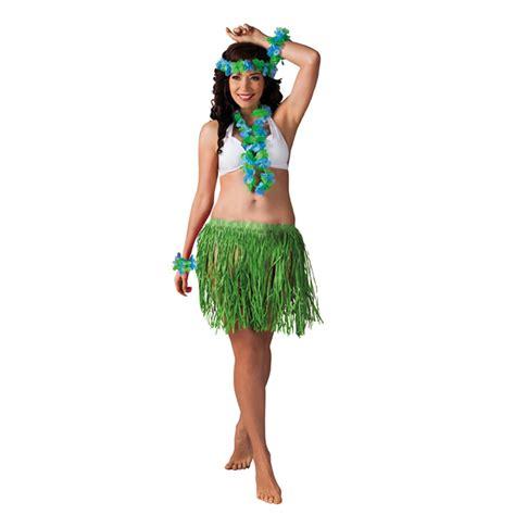 Mujer Hawaiano Bbq Party Girl Vestido de Disfraz Halloween Traje de Disfraz Set One Size | eBay