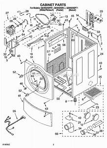 Whirlpool Gew9250pw1 Parts List And Diagram