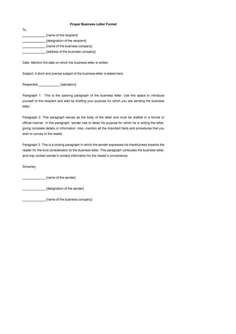 Formal Letter Heading Example | 47 formal letter examples pd