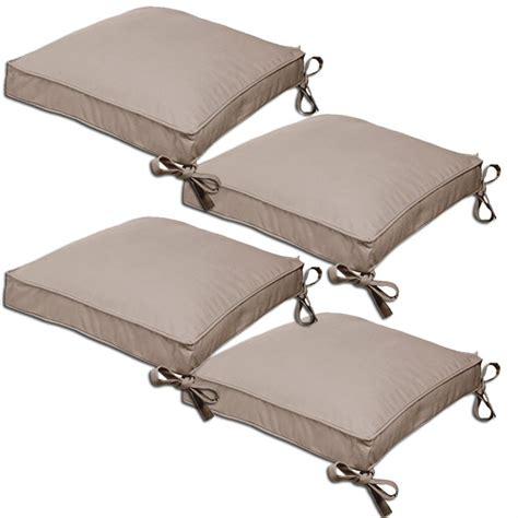 coussins de chaise 4 galettes home pop 39x39x5cm taupes achat