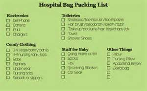 Hospital Bag Packing List for Birth