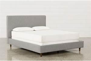 Dean Charcoal Eastern King Upholstered Panel Bed - Living