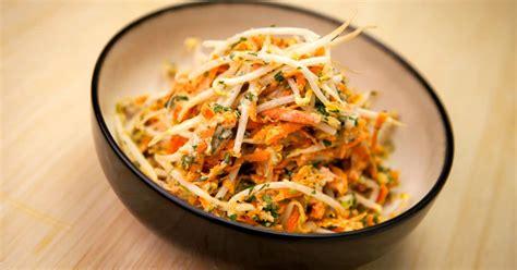 recette de salade de feves germees  carottes foodlavie