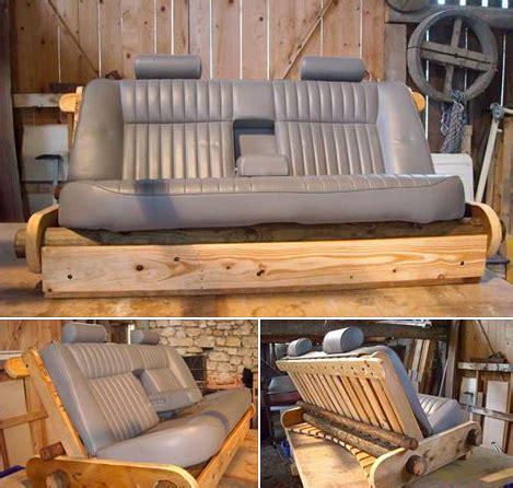 siege auto avant voiture fabriquer un canapé avec des objets recyclés des idées