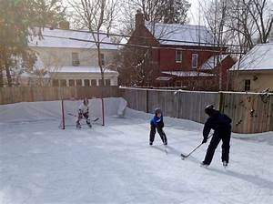 Backyard Hockey Rinks  From Simple To Elaborate