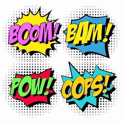 Comic Clip Boom Vector Clipart Elements Vectors