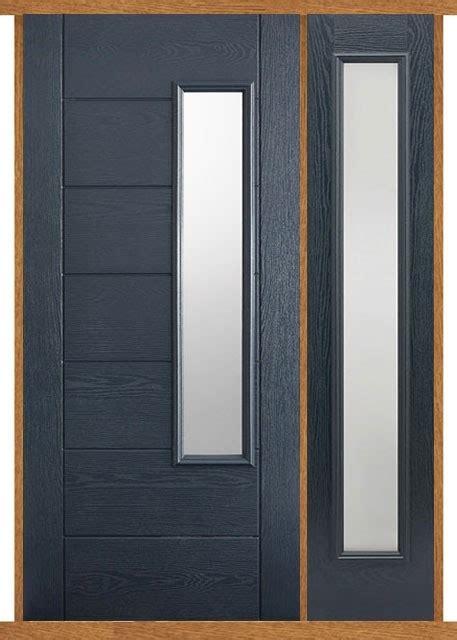 newbury grey composite side panel door set modern doors