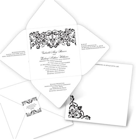damask band seal  send invitation anns bridal bargains