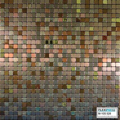 tiles backsplash kitchen flexipixtile modern aluminum mosaic tile peel stick 2802