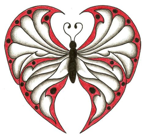 butterfly heart tattoo