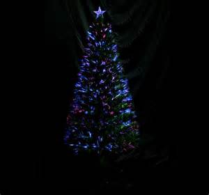 fiber optic christmas tree 6 3ft 230 leaf tips holiday winter decor green ebay
