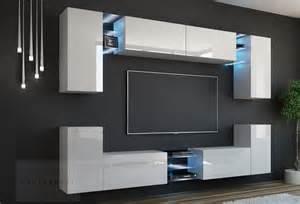 designer wohnwand modern kaufexpert wohnwand galaxy weiß hochglanz mediawand medienwand design modern led beleuchtung