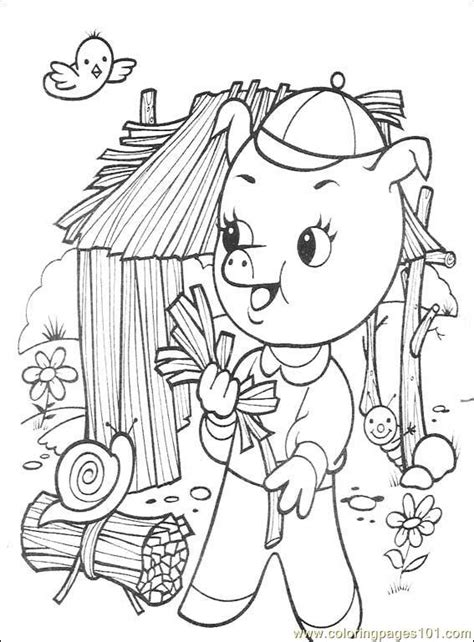 The Three Little Pigs 001 (1) Coloring Page Free Others