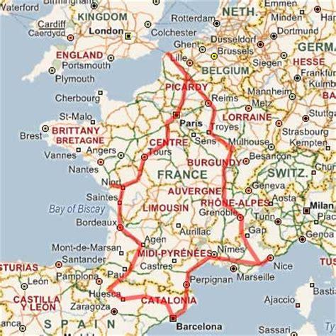 map  france  spain recana masana