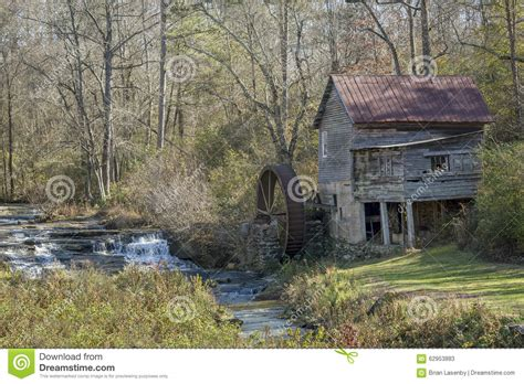 Historic Old Grist Mill Georgia Stock Image Image Of