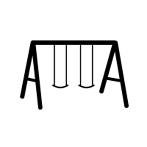 swing clipart black and white swing icons noun project