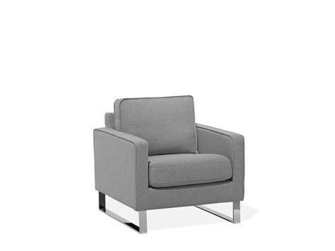 Fabric Armchair Grey Bauru