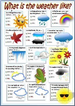 stuff esl weather worksheet