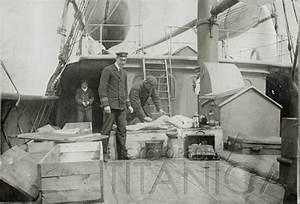Titanic victim being embalmed aboard Mackay Bennett