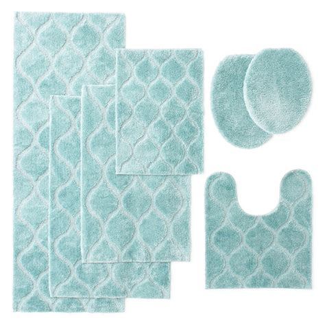 light blue bathroom rugs light blue bathroom rugs superior 2 cotton non skid bath