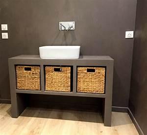 realisation concrete design meuble de salle de bain en With meuble salle de bain beton