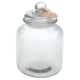 large ridged glass biscuit jar by ella james