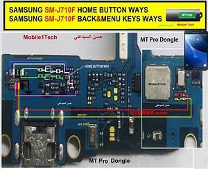 Samsung J7 2016 J710f Home Key Button Not Working Problem Solution Jumper