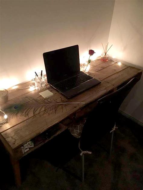 pallet computer desk or working table pallet furniture diy