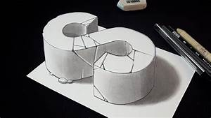 How To Draw 3d Letter S - 3d Drawing