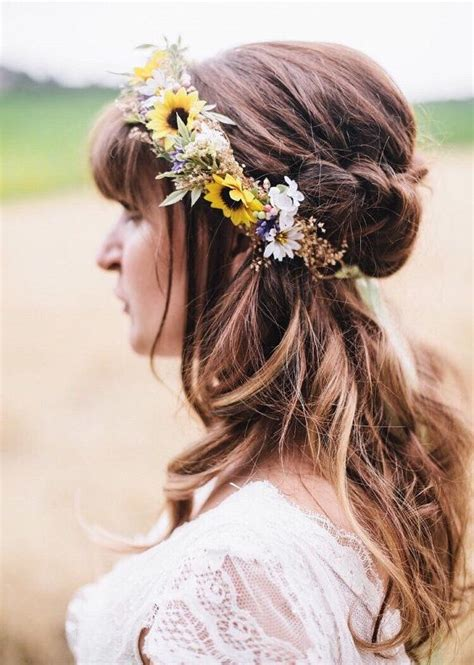flower crown wedding ideas  pinterest wedding
