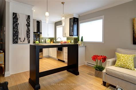 cuisine et salon aire ouverte déco d 39 une aire ouverte tout en élégance martine bourdon