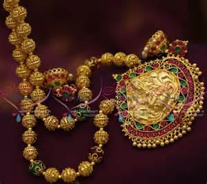 new jhumka earrings nl7470 handmade nagas one gram gold gundla mala screwback
