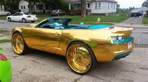 are camaros cars gold n teal camaro ss convertible on 30 quot forgiatos hd