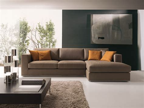 Modern Corner Sofa, In Fabric Or Leather, For Sitting