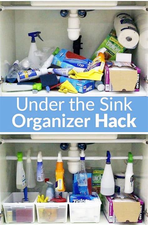 kitchen sink organizing ideas how to organize under the kitchen sink