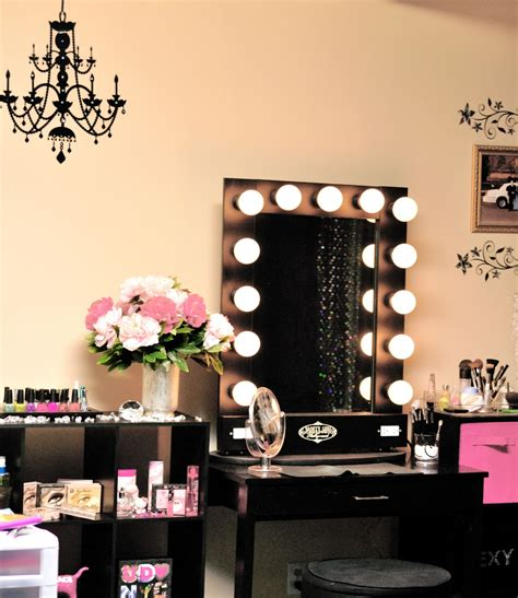 vanity table with lights image of black makeup vanity table diy vanity mirror with lights