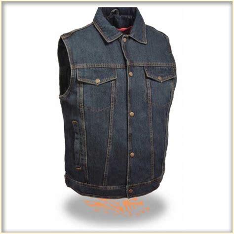 denim vest denim vest by milwaukee leather blue