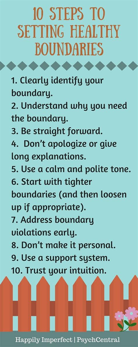 10 Steps To Setting Healthy Boundaries  Happily Imperfect