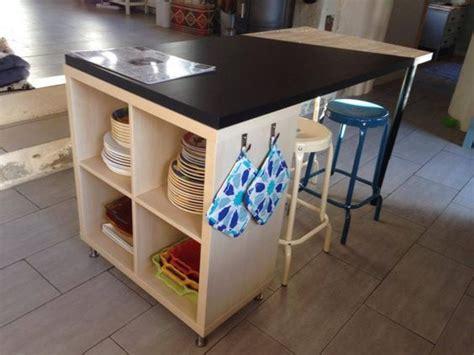transformer une table de cuisine transformer une étagère ikea en un îlot de cuisine 20