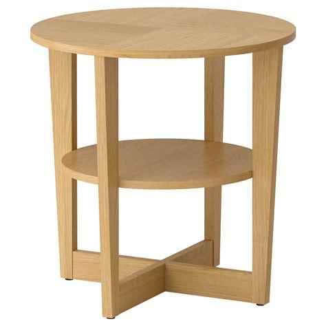 Vejmon Side Table Oak Veneer 60 Cm Ikea