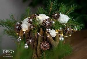 Basteln Mit Zweigen Und ästen : weihnachtsdeko basteln ausgefallenes adventsgesteck mit ~ Lizthompson.info Haus und Dekorationen