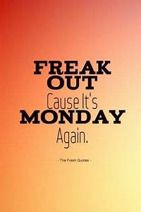 Freak Out Cause It's Monday Again Pictures, Photos, and ...