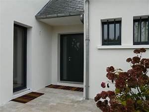 deco facade entree maison With porte d entrée alu avec meuble de salle de bain couleur bleu