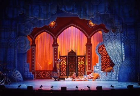 aladdin  palace set design theatre aladdin theater
