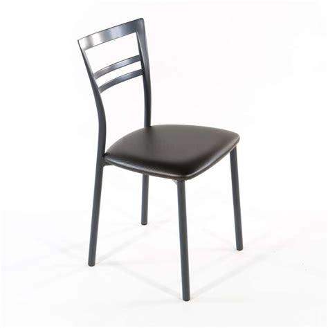 chaise but cuisine chaise de cuisine rembourrée en synthétique et métal go